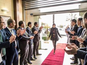 ممّر شرفي تكريماً لموظفات بنك القدس في شهر المرأة