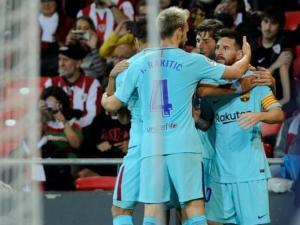 برشلونة يفوز على بيلباو بهدفين وميسي يتألق