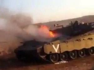احتراق دبابة إسرائيلية شرق البريج قوات الاحتلال تستهدف الاراضي الزراعية ومراكب الصيادين في غزة