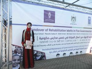 بنك فلسطين وبرنامج الأمم المتحدة الانمائي ووزارة التربية والتعليم يختتمون مشروع صيانة المدارس الحكومية في قطاع غزة