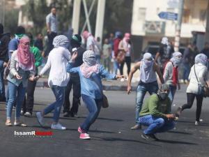 إصابات في المواجهات برام الله حي الماصيون (فيديو)