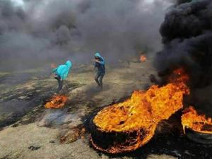 """زمن برس ترصد فعاليات جمعة """"الكوشوك"""" بغزة (ملف)"""