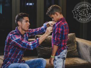 """بالصور: على خطى أبيه.. ماركة أزياء باسم """"رونالدو جونيور""""!"""