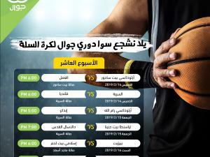 الاتحاد الفلسطيني لكرة السلة يجدول مباريات الاسبوع العاشر لدوري جوال