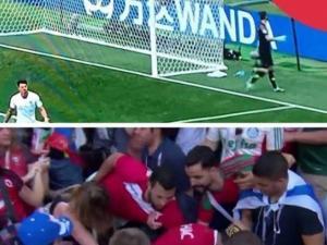 """حدث في المباراة.. مغاربة يمنعون """"إسرائيليين"""" من رفع العلم"""