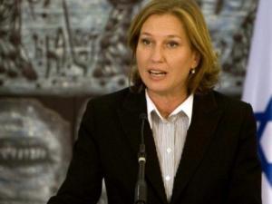 ليفني: حكومة الاحتلال تتجاهل السلطة وتحول الاموال لحماس