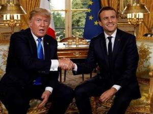 """الرئيس الفرنسي: أقنعت """"ترامب"""" بترك قوة عسكرية في سوريا"""
