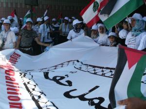 اللاجئون الفلسطينيون في لبنان يواصلون تحركاتهم