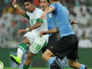الأوروجواي يفوز على السعودية بهدف في الشوط الأول