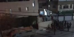 الاحتلال يخلي منزل عائلة أبو حميد في الامعري بعد محاصرته ووقوع مواجهات